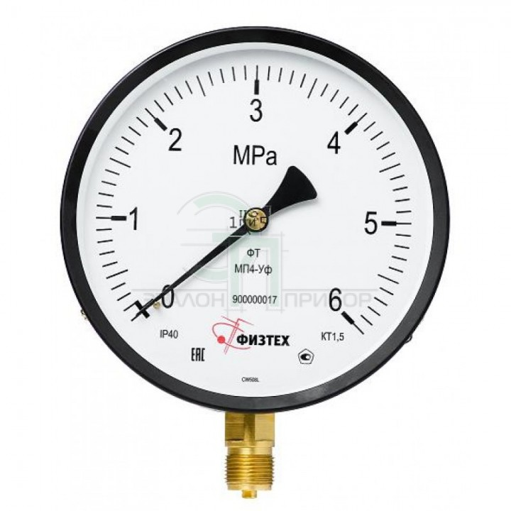 МП4-Уф 0-160 кПа кт.1,5 d.160 IP40 M20*1,5 РШ - Манометр
