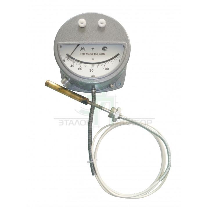 ТКП-160 Сг-М2-(0-120)-2,5-4-250 - Термометр манометричний, конденсаційний, показуючий, сигналізуючий