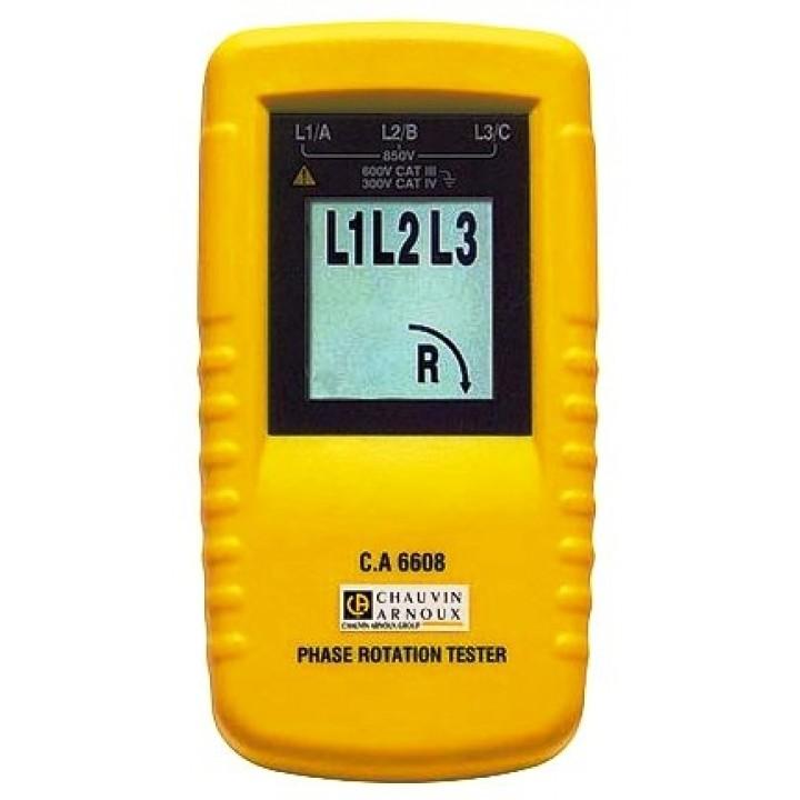 C.A 6608 Тестер для  определения  чередования  фаз и/или  вращения  двигателя