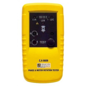 C.A 6609 Тестер для  определения  чередования  фаз и/или  вращения  двигателя