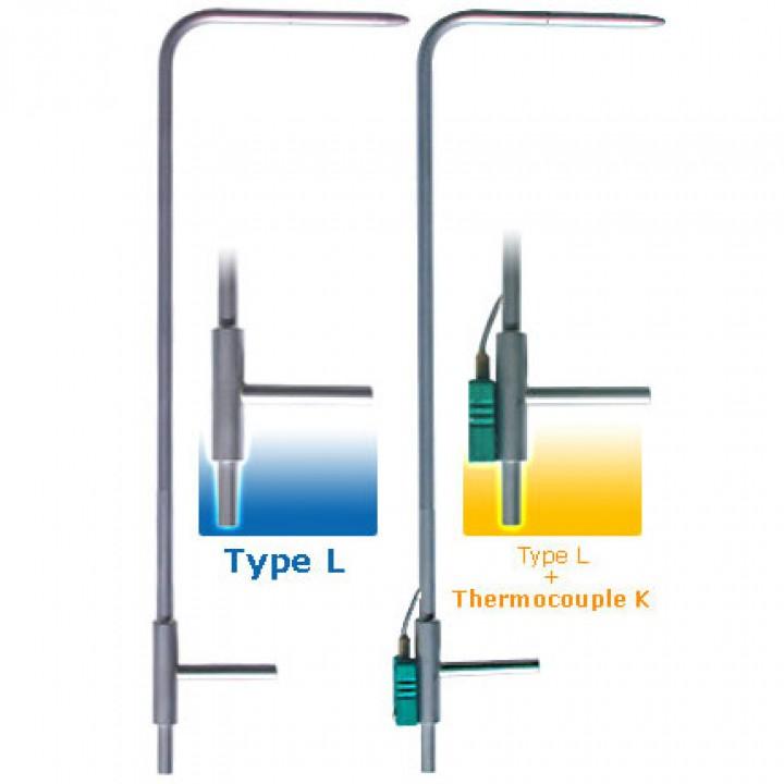 TPL-03-100 - Трубка Піто, тип L, модель NPL, з еліпсоїдною головкою